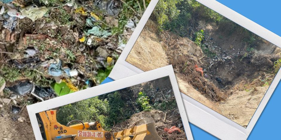Már legalább 100 köbméter szemét tűnt el a Kálvária szeméthegyről