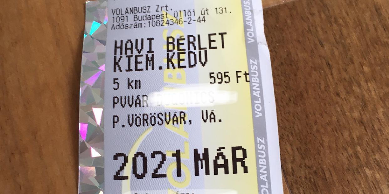 VOLÁNBUSZ – információ a márciusi bérletek visszaváltásáról (érvényes március 10-ig)