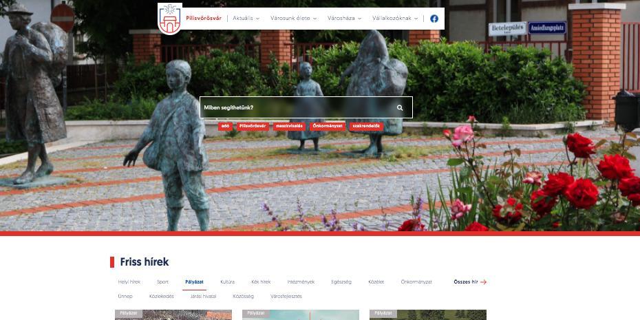 Városi honlap megújulása