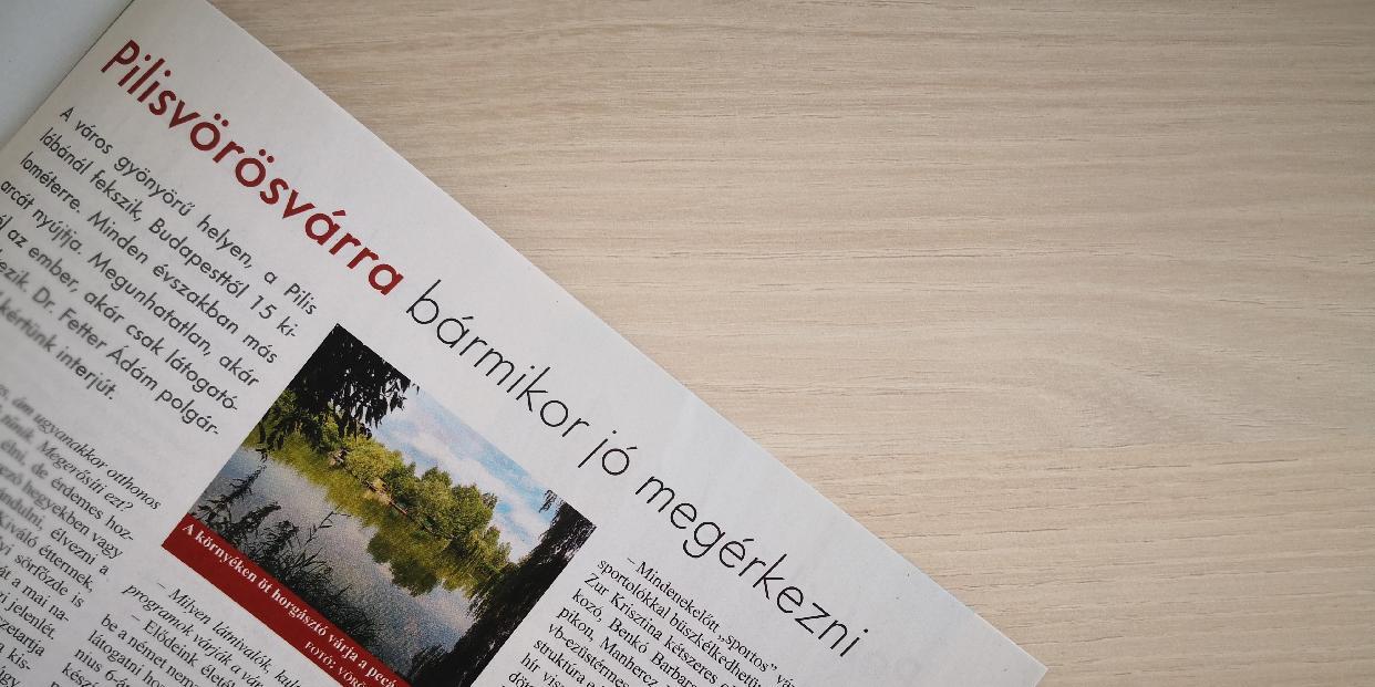 Pilisvörösvárról olvashatunk a Pest megye magazinban